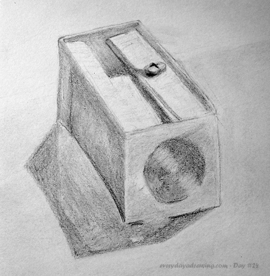 Drawing of a Pencil Sharpener in Pencil