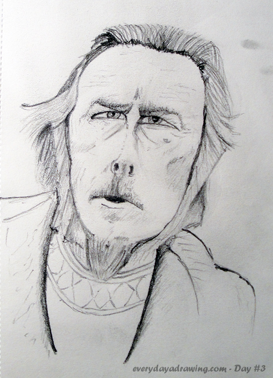 Alan Watts Pencil Drawing
