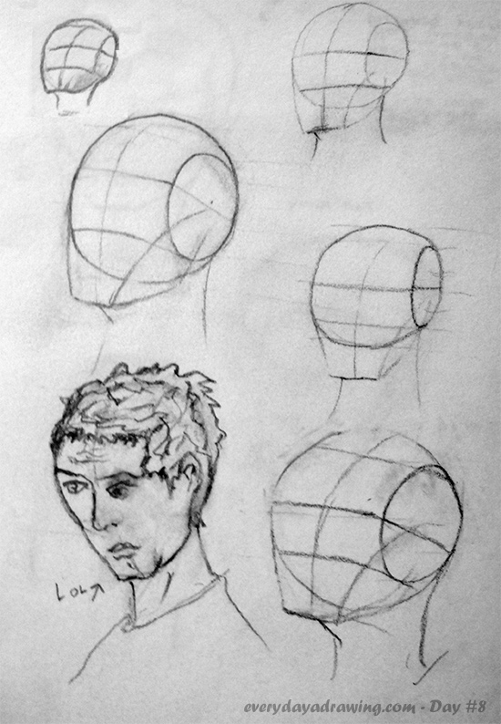 Back Head Drawing Drawing The Head