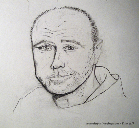 Karl Pilkington Pencil Drawing