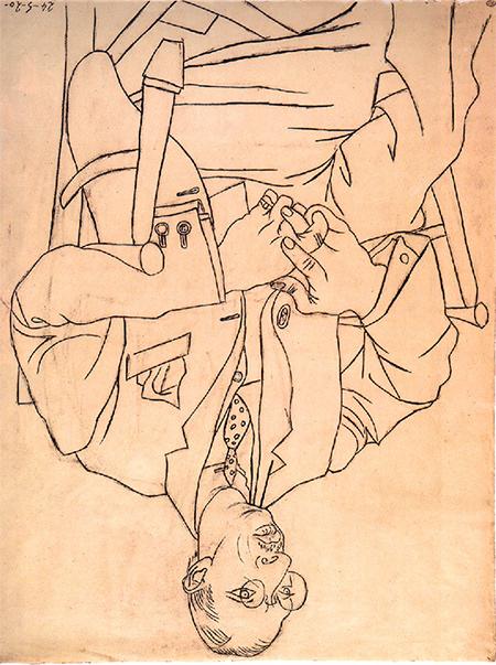 Igor Stravinsky by Picasso upside down