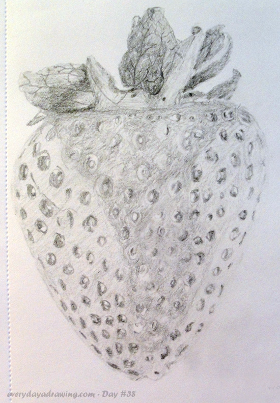 Drawing of a Strawberry in pencil