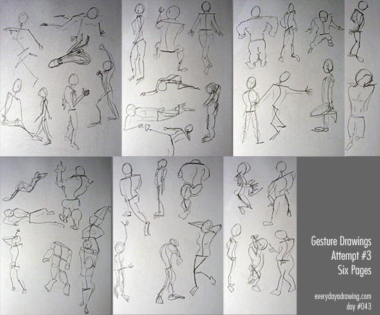 More gesture drawings from Pose Maniacs