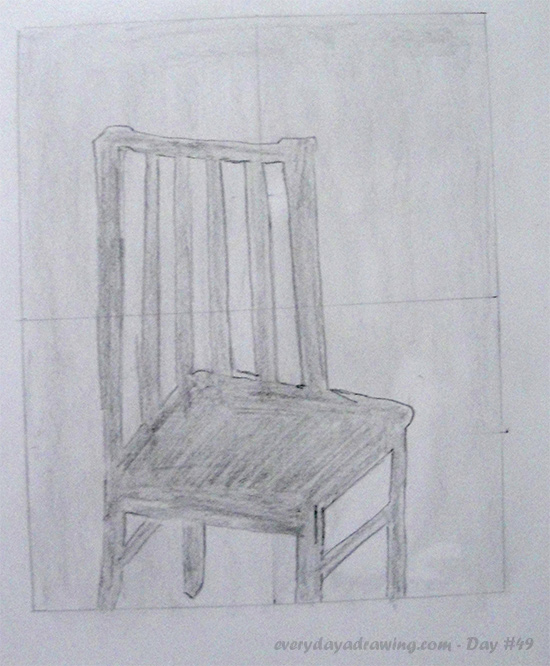 Negative Space Drawing of a Chair