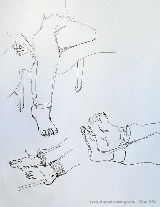 Drawings of feet