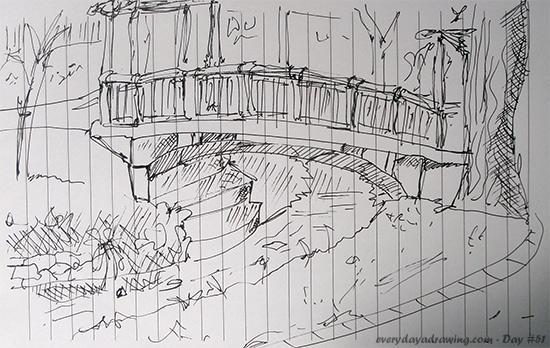 Roath Park Bridge Drawing