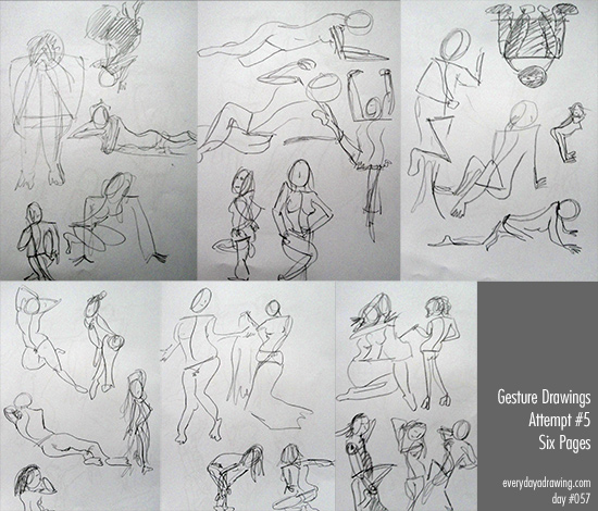 Session 5 in my regular gesture drawings practice