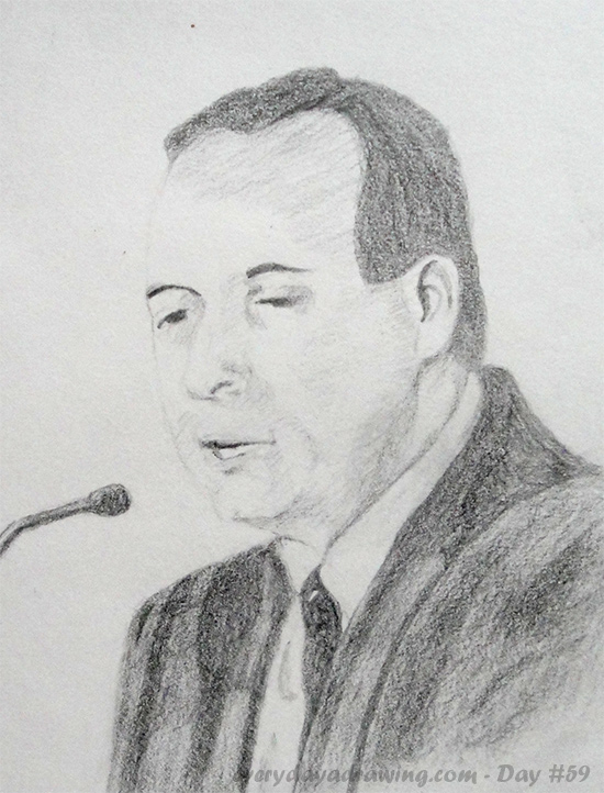Tom Woods Pencil Drawing