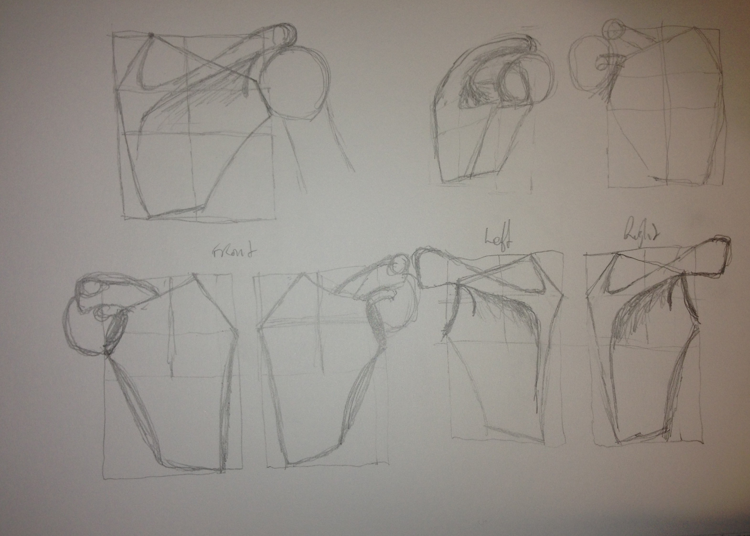 how to draw a scapula