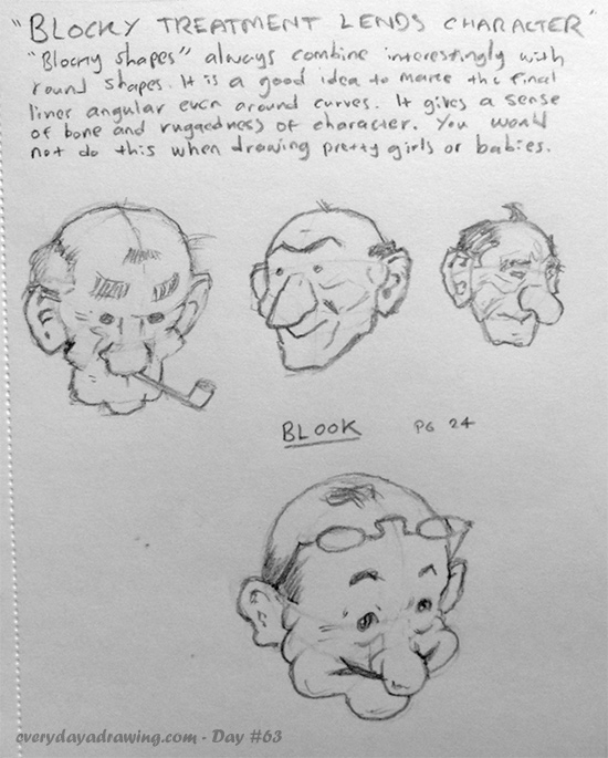 Day 8 of drawing from Fun with a Pencil by Andrew Loomis