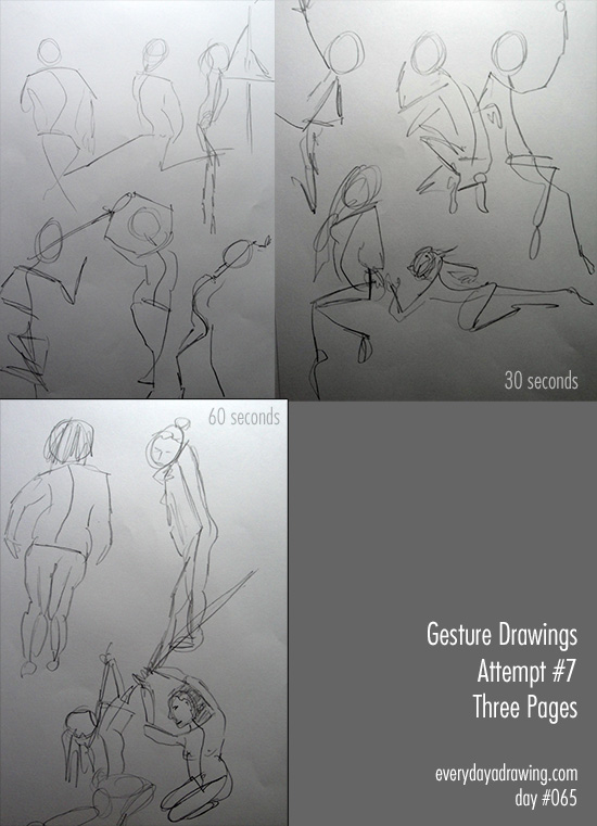 My seventh session of gesture drawings