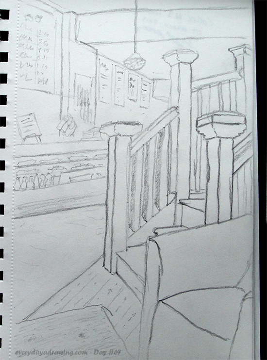 Drawing of Coffee #1 interior