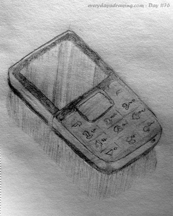 Drawing of my mobile phone