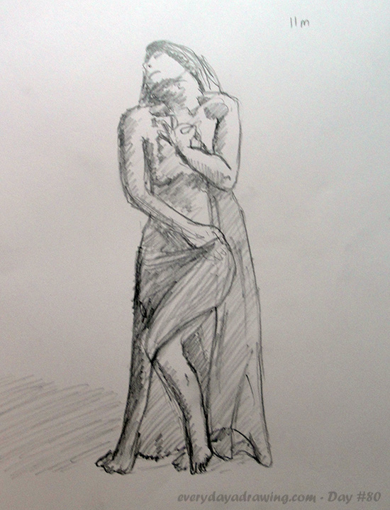 11 minute sketch of nude female