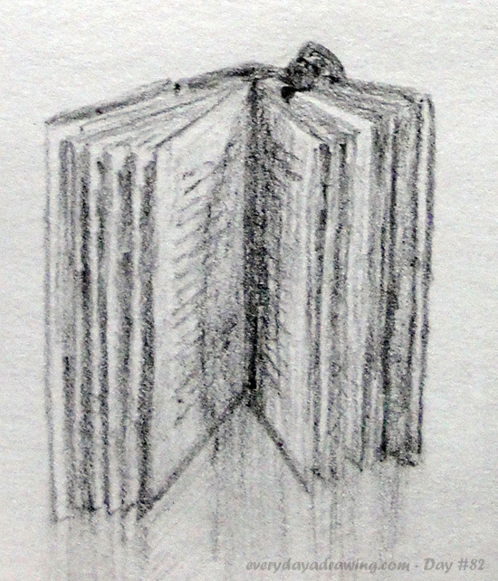 Book Pencil Drawing Drawing of an Open Book