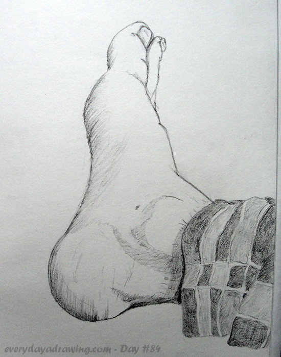 Pencil Drawing of my Foot