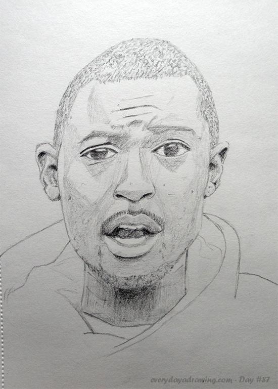 Drawing of spoken word artist Suli Breaks