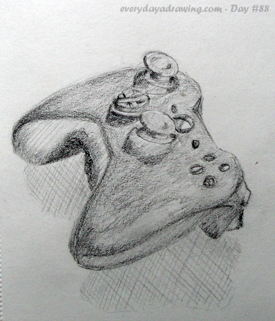 Drawing of my Xbox controller