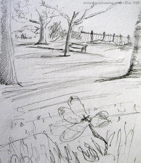 Drawing of Waterloo Gardens