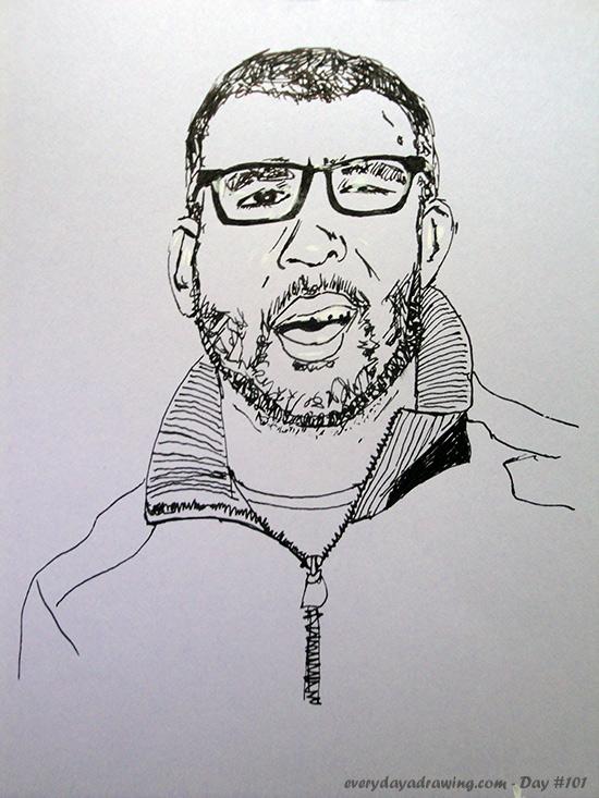 Drawing of Reddit user virogar
