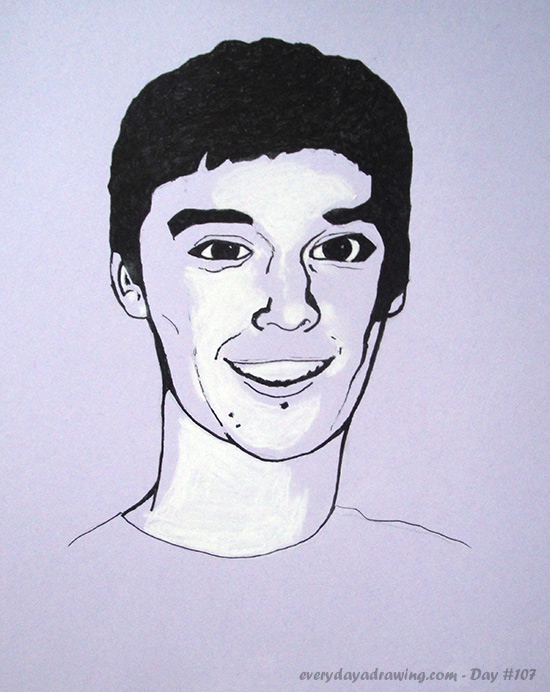 Drawing of a friend of Reddit user veryfancydoilies