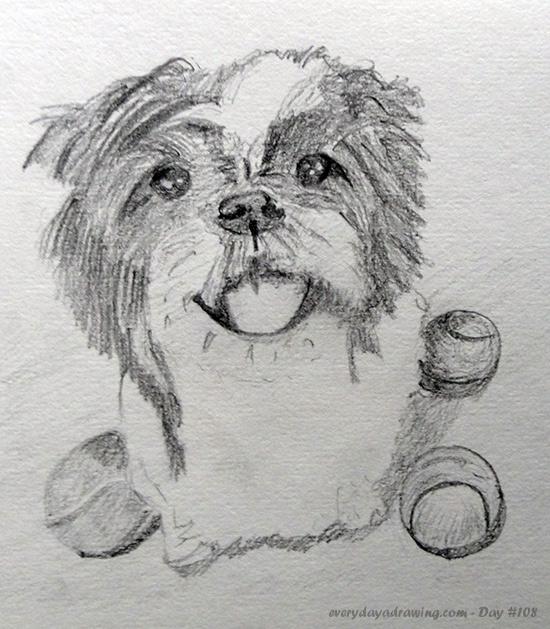 Drawing of fueledbychar's dog