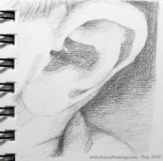 Drawing of Maia's Ear