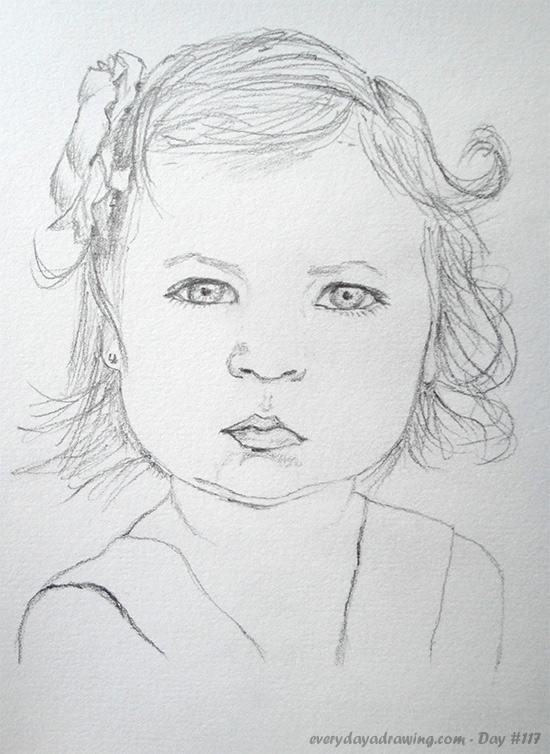 Drawing of Reddit user cjboone's daughter