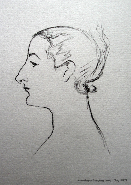 Copy of one of John Singer Sargent's drawings of Madame X