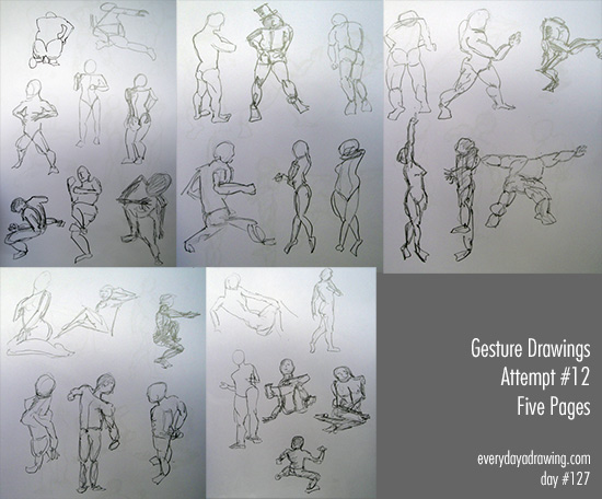 Gesture Drawings from Pose Maniacs