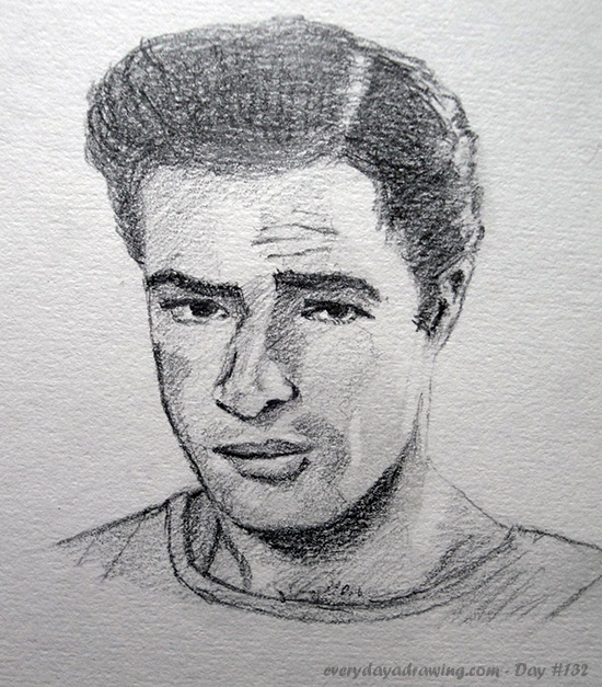 Drawing of Marlon Brando