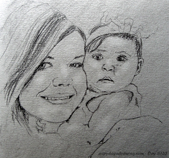 Drawing of Mother and Child as requested by Catherinelove on Reddit
