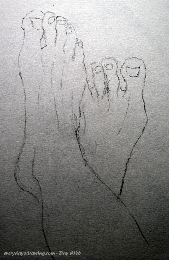 A quick drawing of my feet