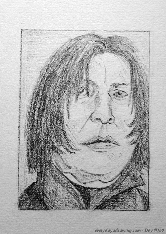 Pencil Drawing of Severus Snape