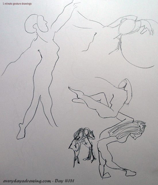 60 second gesture drawings