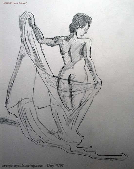 11 minute nude figure drawing