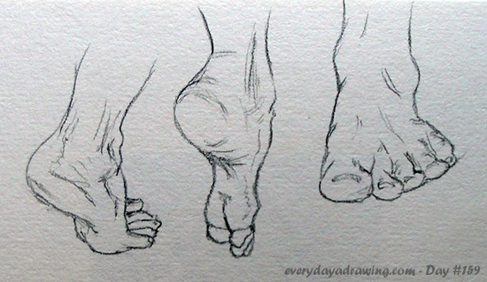 Drawings of feet