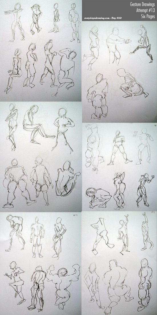 Session 13 of my regular gesture drawings