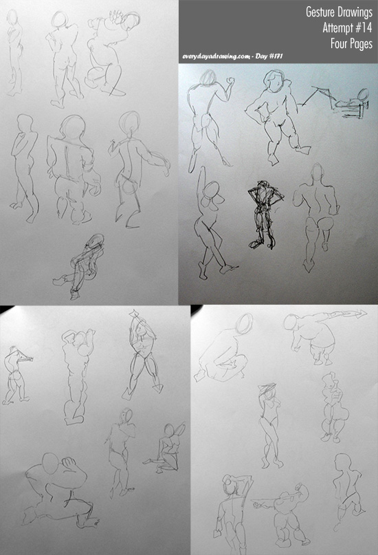 Session 14 of my gesture drawing practice