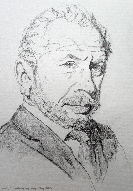 Drawing of Alan Sugar