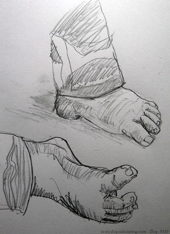 Drawing of Maia's Feet