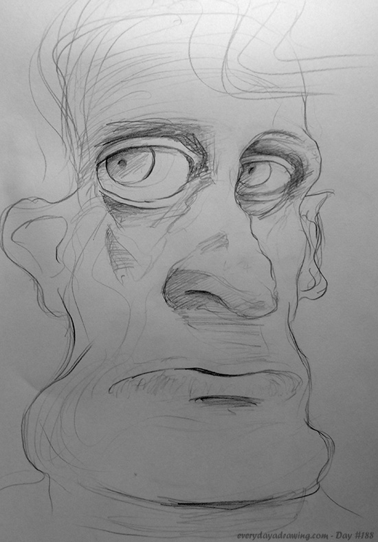 Drawing of another face
