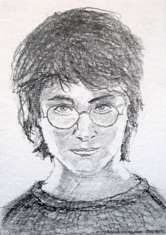 Drawing of Daniel Radcliffe