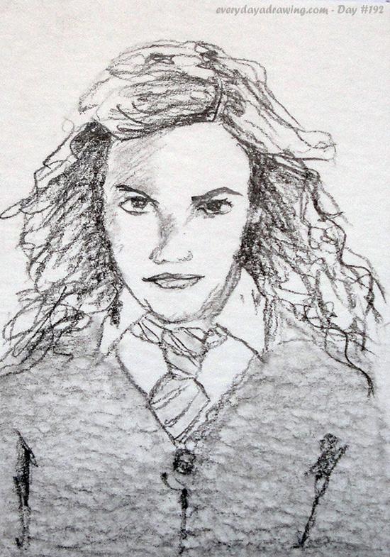 Drawing of Emma Watson