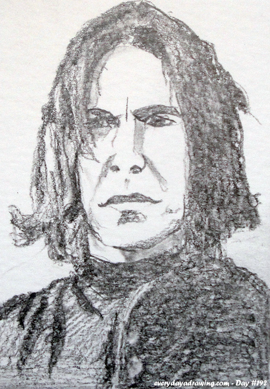 Drawing of Harry Potter's Severus Snape