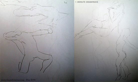 1 minute drawings