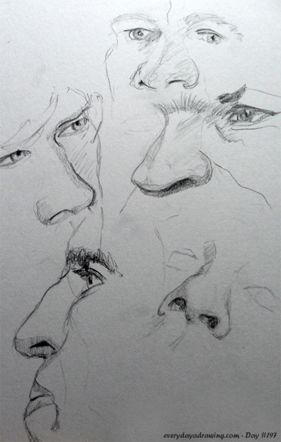 Some drawings of noses