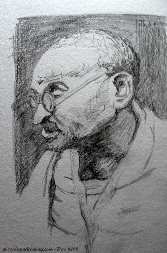 Drawing of Gandhi