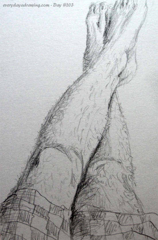 Drawing of my hairy legs!