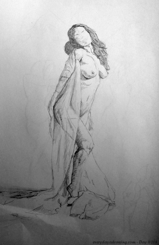 Female Nude with Sheet